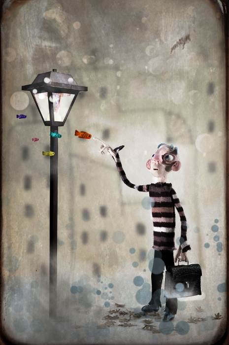 Lhomme Aux Poissons Olivier Merlin Digital Art