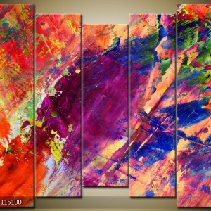 Abstract canvasschilderij 000005 – kleurrijk abstract