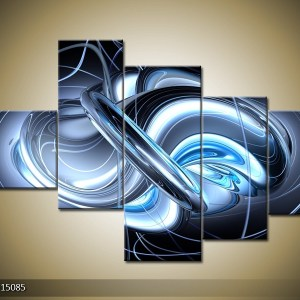 Abstract canvasschilderij 000313 – abstract blauw