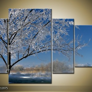 Canvasdoek landschap 000407 – Winterboom