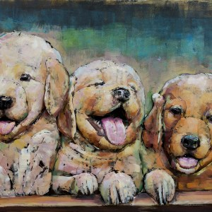 Metal art 3D – 611 – honden puppies