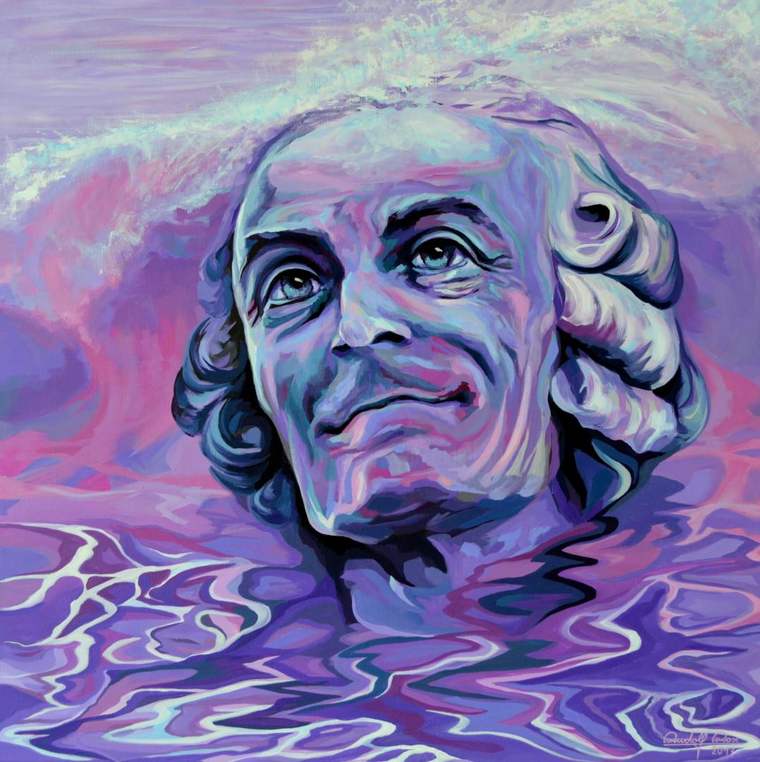 Voltaire Moderne Portrartmalerei In Acryl Auf Leinwand Youtube