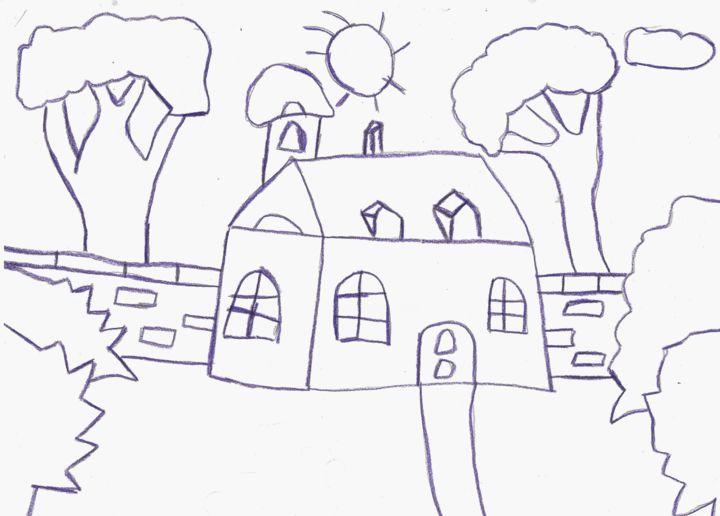 La Petite Maison Dessin Par Audrey Segura Artmajeur