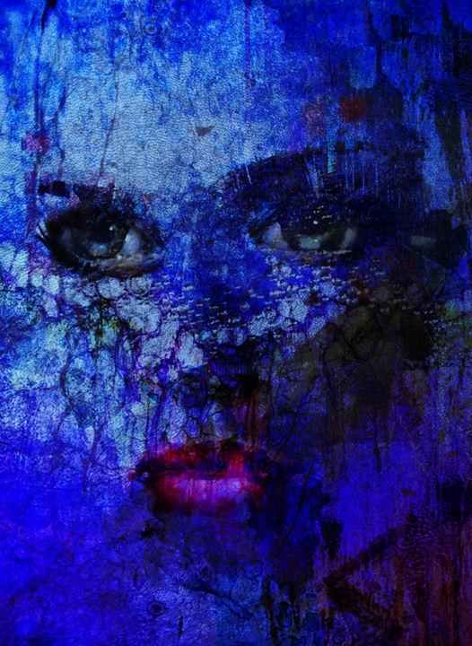 Abstract Vivid Bleu Klein Digital Arts By Dodi Ballada Artmajeur