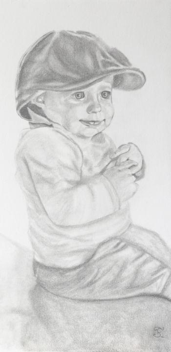 dessin au crayon d un petit garcon a la