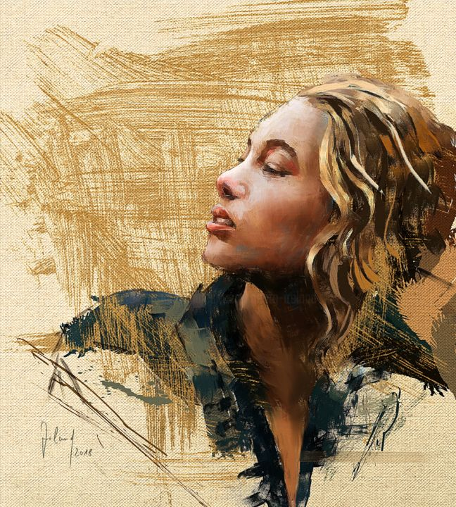 Digitale Malerei Alice Heartfelt Art