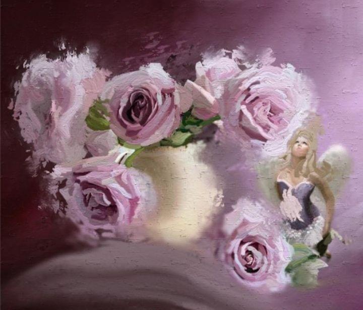 l ange des roses arts numeriques par