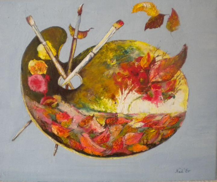 La Palette Painting By Nad Ev Artmajeur