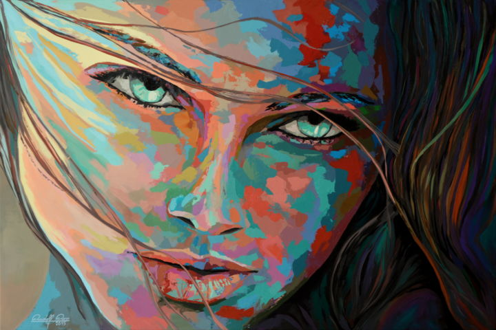 Moderne Portratmalerei Pop Art Sibylle Rettenmaier