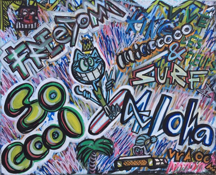 Coole Demonstration Der Abstrakten Malerei Acrylnagel Spachtel