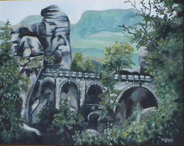 """""""Bastei"""" Huile sur toile 22 x 28. 2010"""