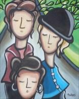 """""""Compagne de marche"""" Acrylique sur toile 16 x 20. 2009"""