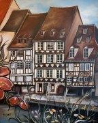 «Strasbourg» Huile sur toile 2013 VENDUE