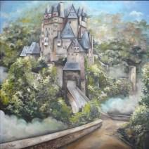 Eltz Burg, huile et acrylique sur toile 40 x 40. 2012
