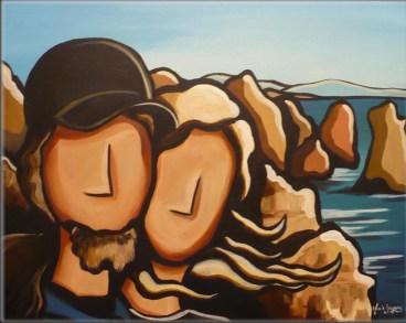 """""""Lagos"""". Acrylique sur toile 2009"""