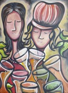 """""""Le carrousel"""" Acrylique sur toile 18 x 24. 2010 VENDU"""