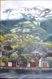 """""""Le fjord"""" Huile sur toile 24 x 36. 2011"""