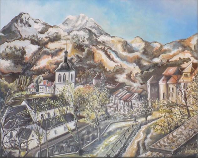 """""""Gruyère"""" Huile sur toile 22 x 28. 2012"""