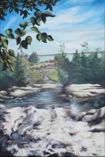 """""""Port-au-persil"""" Huile sur toile 24 x 36. 2004"""