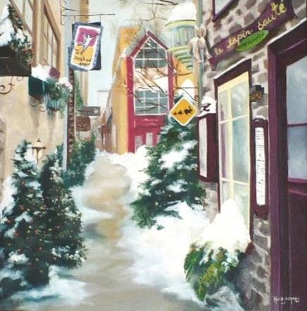 """Promenade hivernale"" Huile sur toile 18 x 18. 2004"
