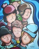 """""""Vivre l'hiver"""" Acrylique sur toile 22 x 28. 2009"""