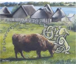 Histoire Viking, huile sur toile 16 x 20