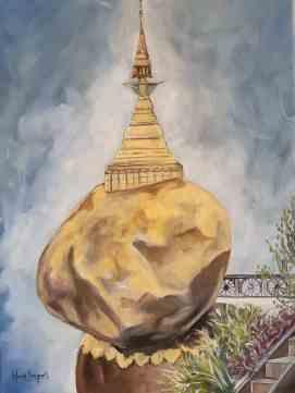 Le Rocher d'or, 2019, 12 x 16