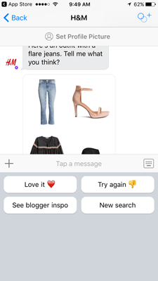 How a fashion chatbot works