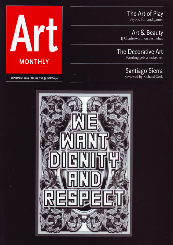 Art Monthly Magazine Issue 279 September 2004