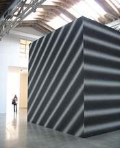 Sol LeWitt's A Cube with Scribble Bands in Four Directions, One Direction on Each Face (2007) at Paula Cooper Gallery