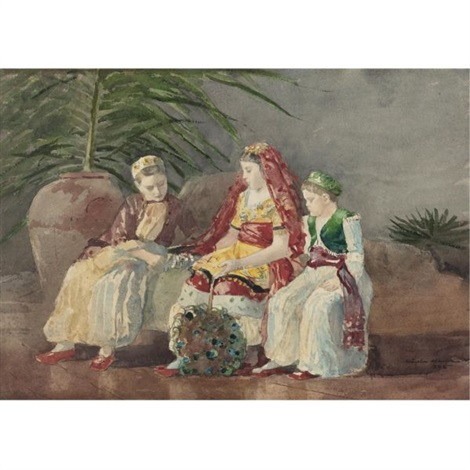 Three figures in an interior by Winslow Homer on artnet three figures in an interior by winslow homer