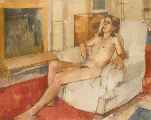 Seated nude by William Coldstream (1973)