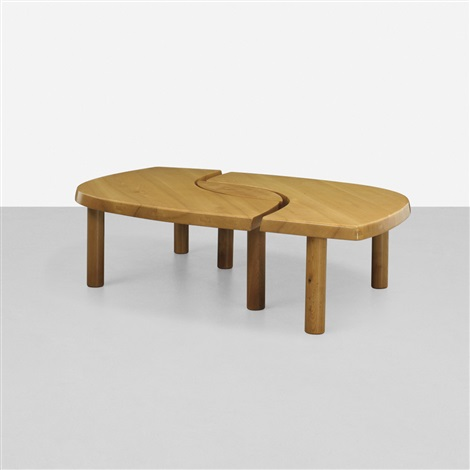 loiel coffee table in 3 parts by pierre chapo on artnet
