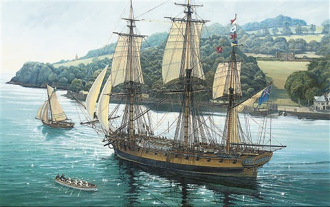 Image result for british galleon in harbour