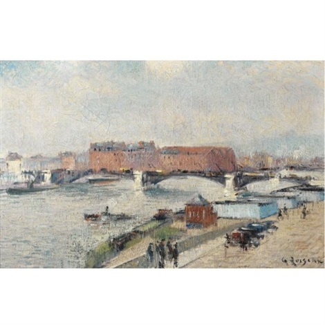 les docks le pont de boieldieu rouen by gustave loiseau on artnet