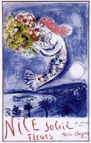 la baie des anges nice soleil fleurs by marc chagall on artnet