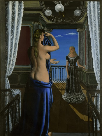 le balcon by paul delvaux