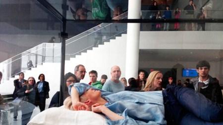 Tilda Swinton Catches Some Z's MoMA