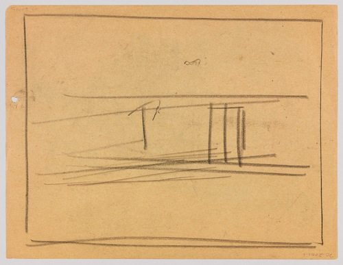 Edward Hopper, Study for Nighthawks (verso), 1941 or 1942, fabricated chalk on paper, 8 7/16 x 11 in. WHITNEY MUSEUM OF AMERICAN ART, NEW YORK; JOSEPHINE N. HOPPER BEQUEST 70.200A-B. ©HEIRS OF JOSEPHINE N. HOPPER, LICENSED BY THE WHITNEY MUSEUM OF AMERICAN ART. DIGITAL IMAGE, © WHITNEY MUSEUM OF AMERICAN ART, NY.
