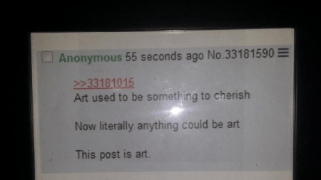 eBay Bidder Buys 4chan Screenshot, Art,