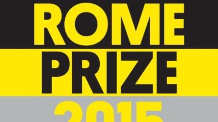 2015 Rome Prize Recipients Announced