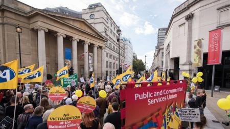 Union Votes Suspend London's National Gallery