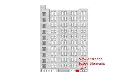 Josée Bienvenu Heads Down Street Level