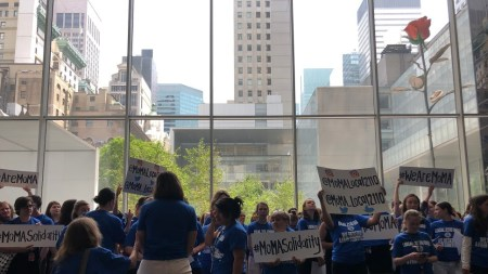 'We Are MoMA!': Union Demonstrates Negotiations