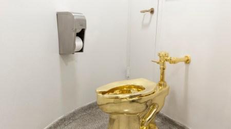 Maurizio Cattelan's Golden Toilet Will Visit