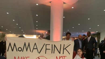 A protest at the Museum of
