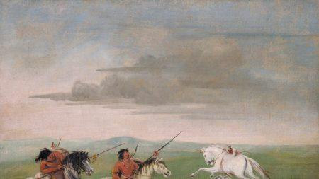 George Catlin, 'Comanche Feats of Horsemanship,'