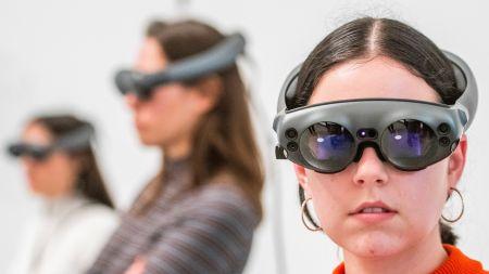 Visitors using the VR gogglesMarina Abramovic: