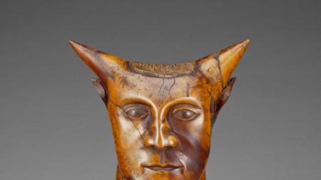 'Head With Horns,' ca. 1894, sandalwood