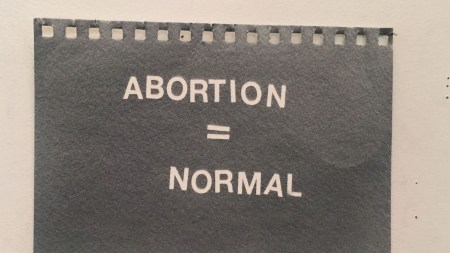 Betty Tompkins, 'Abortion = Normal,' 2019
